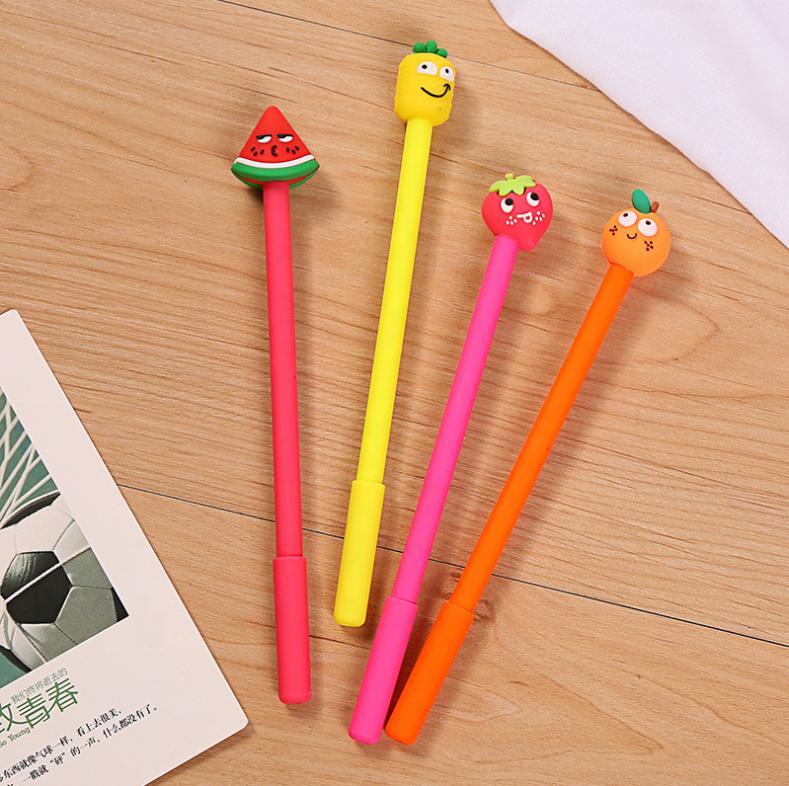 Fruit Plastic Ballpoint Pen with Vegetable Magnet Ball Pens Stationery Home Hot