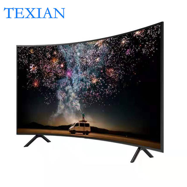 Led Tv Usb Wifi HD Smart TV 60 Inch Curved Screen Smart TV Black Color Multi-Language Fashion Design