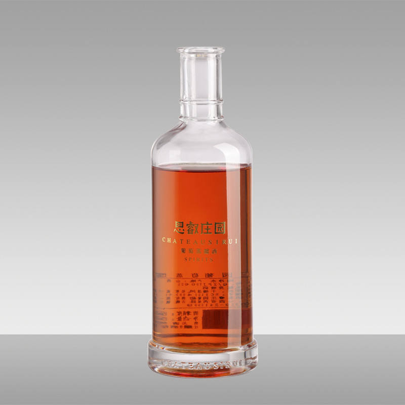 Wholesale 750ml clear glass bottle for Vodka