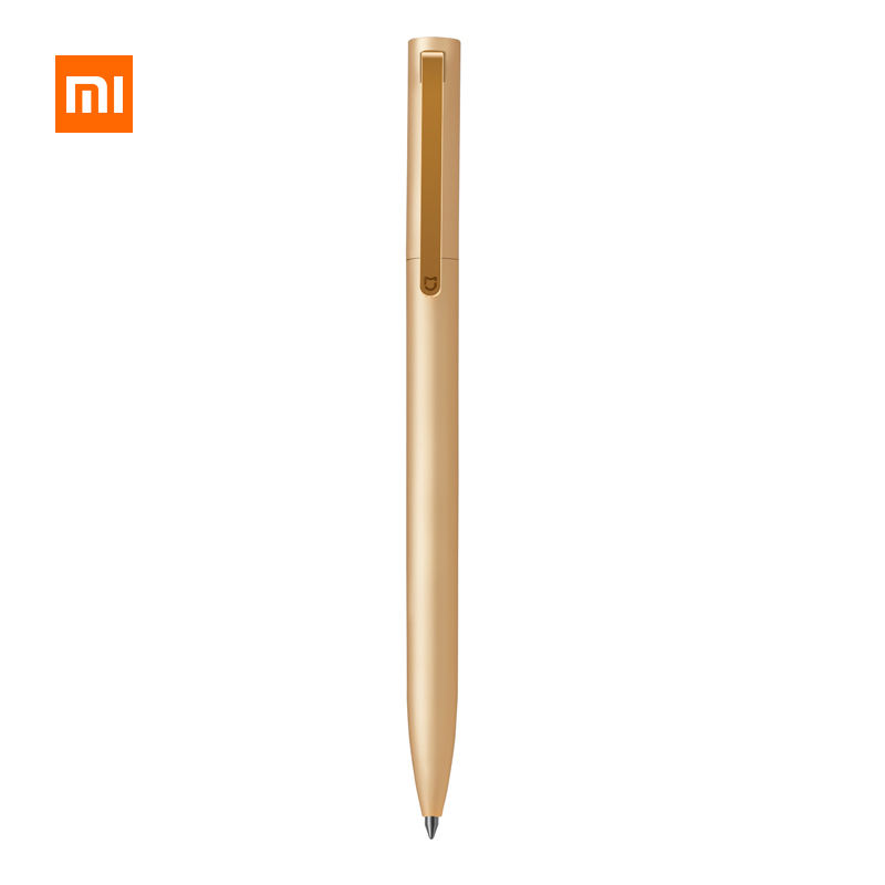 Xiaomi Mijia Metal Sign Pens 0.5mm Durable Signing Smooth Switzerland MiKuni Black Ink Rollerball Pen