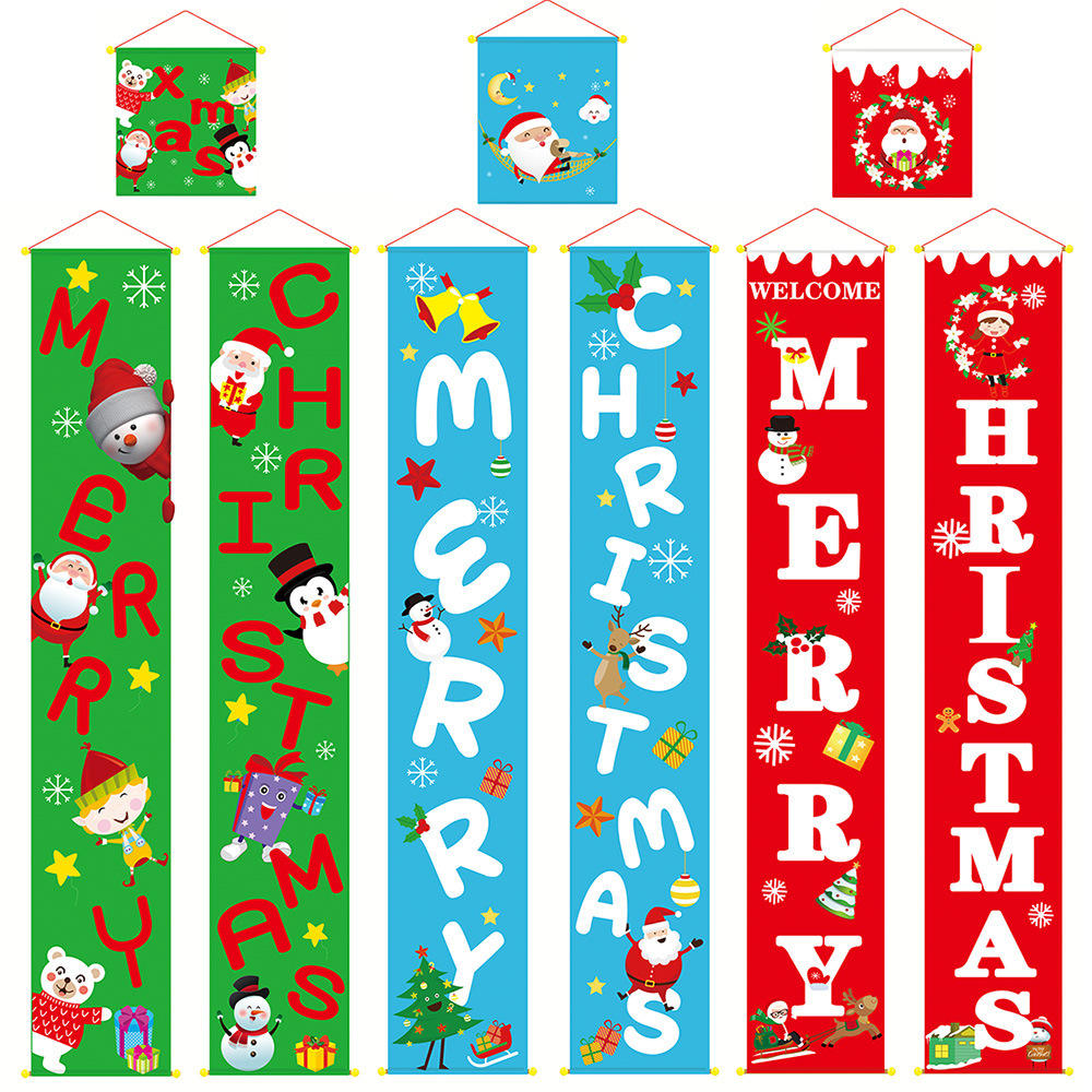 Christmas decoration supplies couplet doors and Windows hanging cloth festive atmosphere dress up walls
