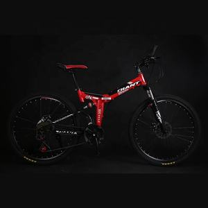 Mountain Bike 26inch Folding Carbon Steel Frame Hardtail Bike Full Suspension and Dual Disc Brake 21 Speed