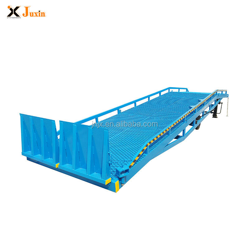Adjustable CE ISO approved 6-15ton mobile truck container load unload dock ramp hydraulic yard ramp for sale