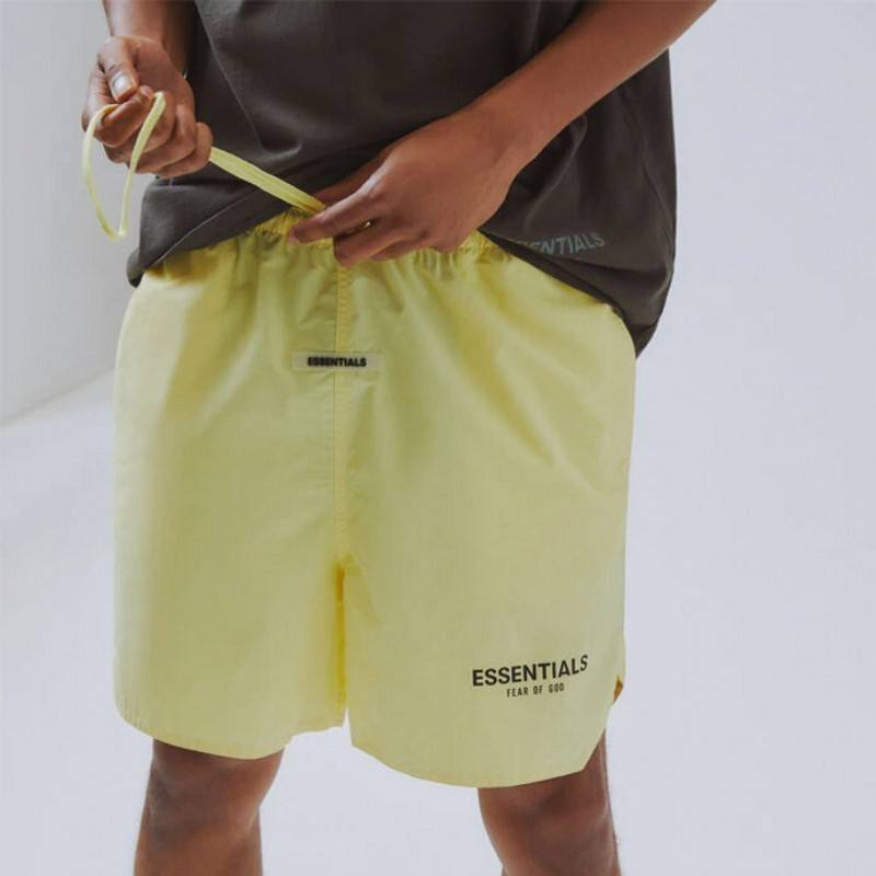 2021 High Quality Men's Nylon Shorts Casualwear Sports Drawstring Shorts
