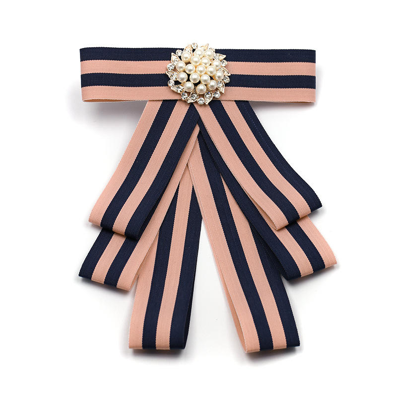 Fabric Bow Brooches For Women Shirt Dress Fashion Collar Jewelry Canvas Tie Broche Tassel Brooch Necktie Femme Party Gift