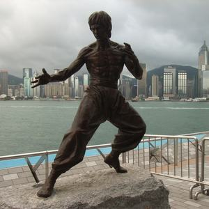 Hong Kong Famous Life Size Bronze Bruce Lee Statue