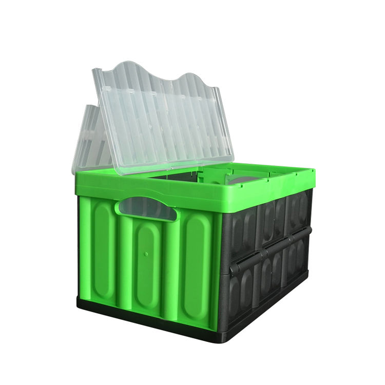 Uni-Silent Collapsible Stackable Plastic Folding Crates For Storage And Logistics CX533630C