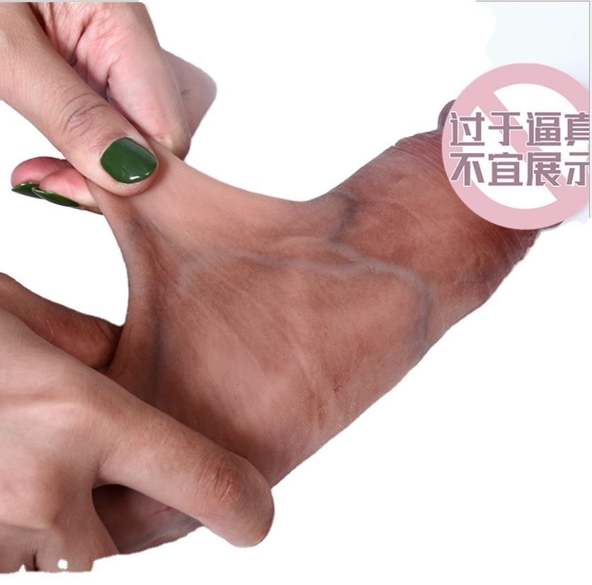 sliding skin realistic dildo penis dong cock real touch feeling sex shop factory original price