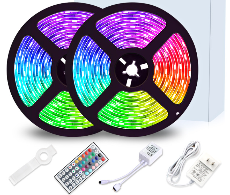 16.4ft changing RGB 150 leds LED tape lights remote control led light strip for indoor decoration
