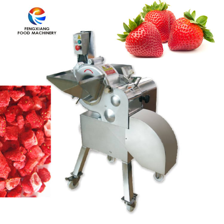 Fruit and Vegetable strawberry Cube Cutting Dicing Machine Inverter Control