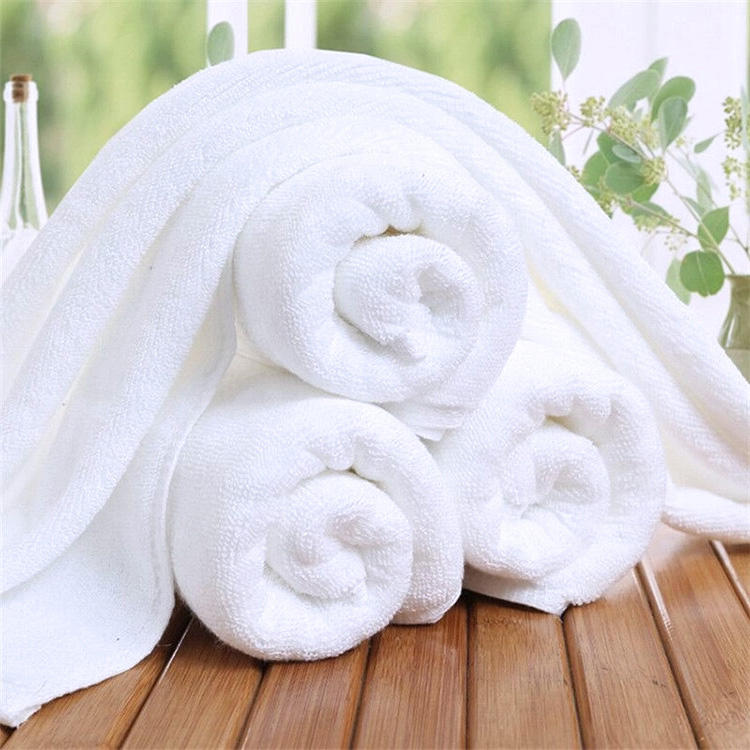 Beach Bath Towels Bulk Custom Logo 100% Cotton White 5 Star Hotel Face Towel Set