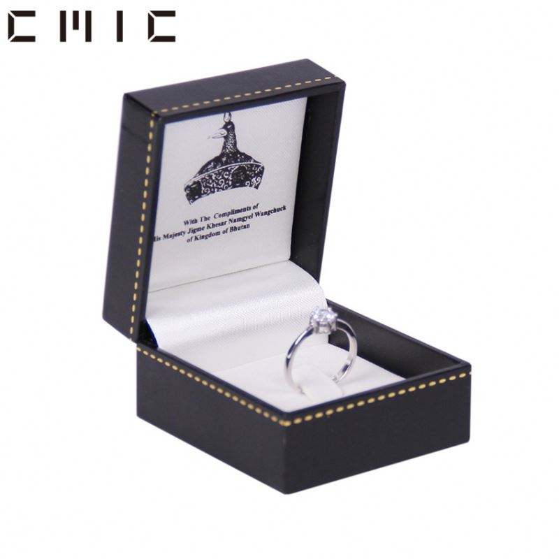Packaging Box And Pouch For Jewelry Boxes Dust Bags Simple Customised Small Custom Logo Customized Pu Wedding Package Diy