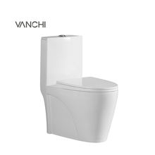 Bathroom toilet commode Siphonic one piece toilet Elongated toilet seat