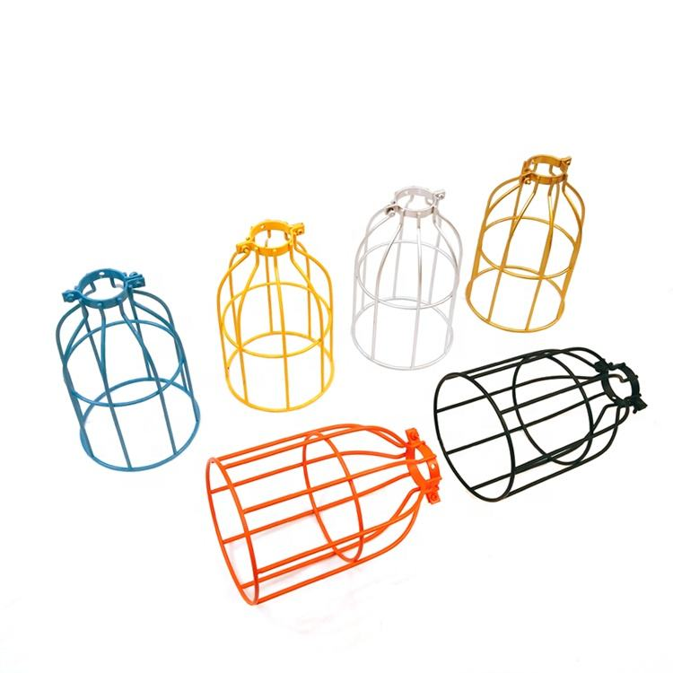 Vintage Retro Bird Cage Lampshade Frames Metal Protect Edison Bulb Decoration