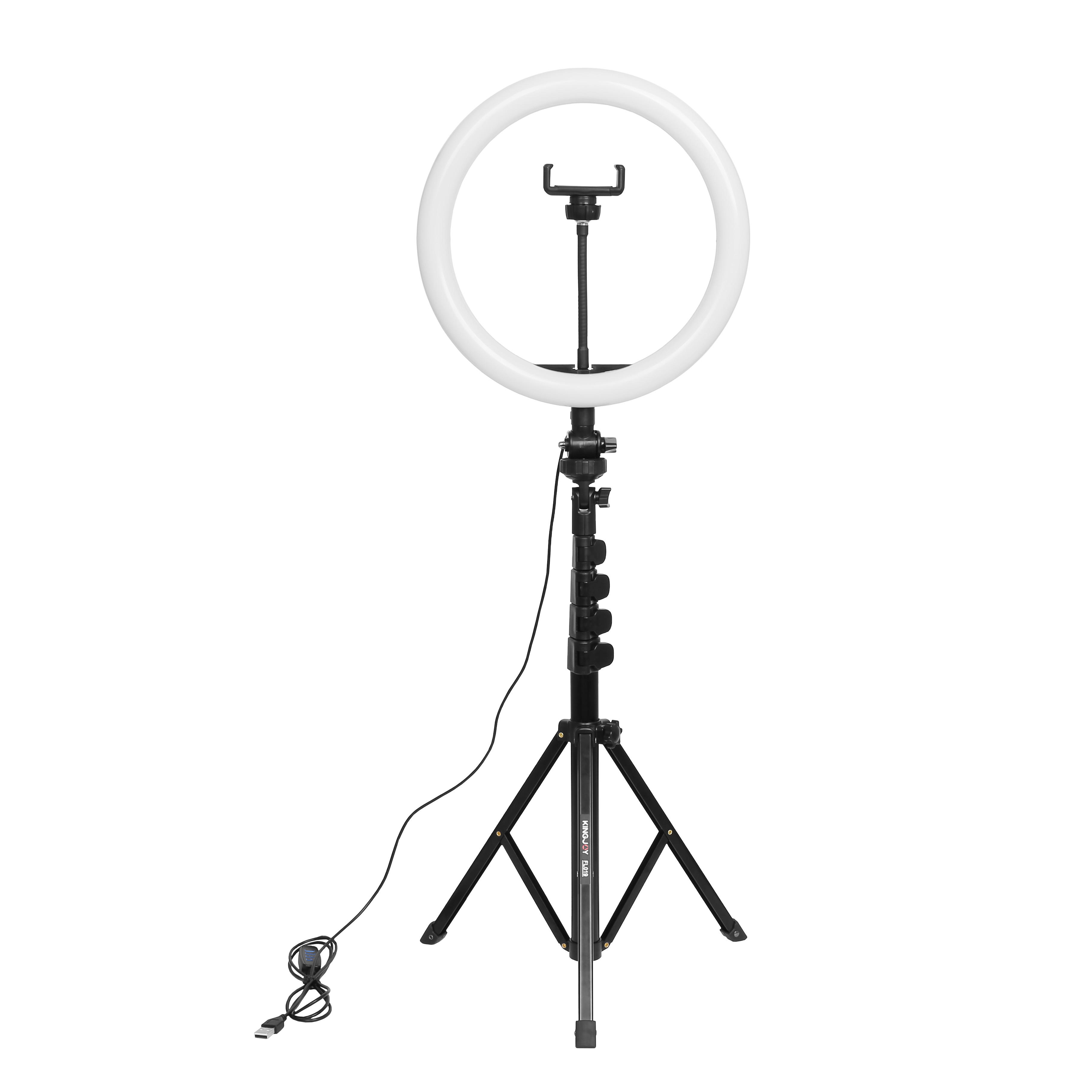 AFI 11 Inch Universal Plastic Beauty Ring Fill Light with Tripod Stand for Phone Shooting, Live streaming and Make Up