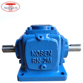 1:1 Right Angle Power Transmission 4 Way Bevel Gearbox