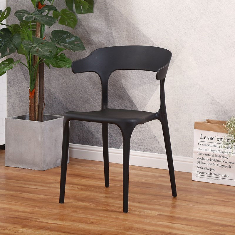 Nordic modern minimalist home plastic dining chair casual cafe restaurant chairs