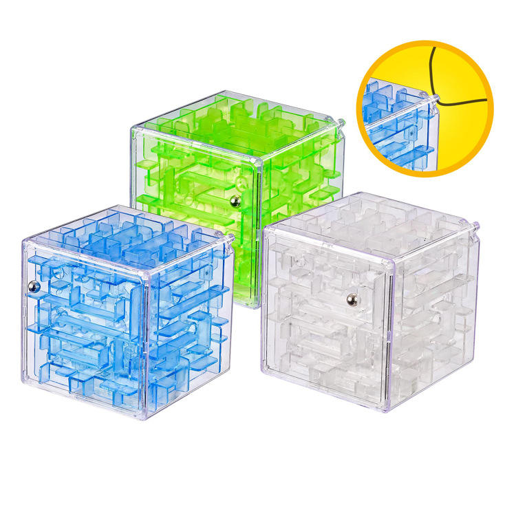 Hot sale 3D Mini Speed Magic Cube Maze Labyrinth Ball intellect Maze game puzzle Sets Toys