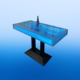 Custom made lounge acrylic led bar table with water bubbles wall effect