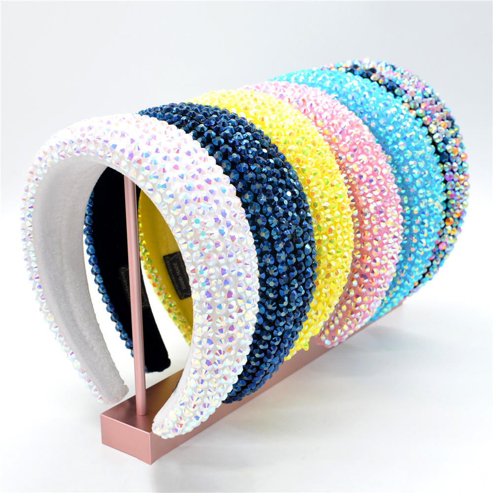 head bands diamond headbands wholesale Crystal Hair Accessories Luxury designer solid color bling headbands for women 2020