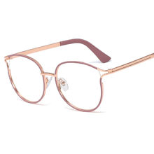 M1150 Trendy Glasses frame For Women Metal Frame Optical frame For Girl Custom logo Brand Eyewear