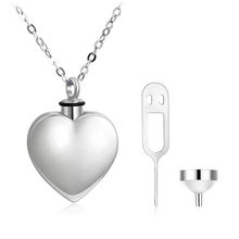 925 Sterling Silver Heart Memorial Urn Pendant Necklace Cremation Ashes Jewelry