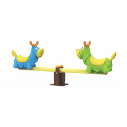 Child kids play equipment kindergarten outdoor playground plastic seesaw plastic seat for kids