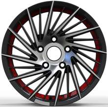 2020 Popular Designs guangzhou factory price Auto Part Car Wheels Rims Star Cancave Spokes Weld Wheels With red line OEM alloy