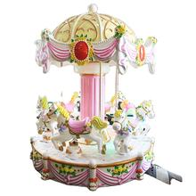 Mini small kids ride carousel horse