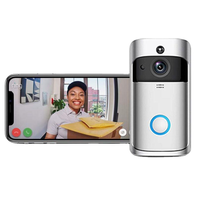 HD видео-телефон двери дверной звонок Домофон Система контроля доступа беспроводной водонепроницаемый ИК-камера ночного