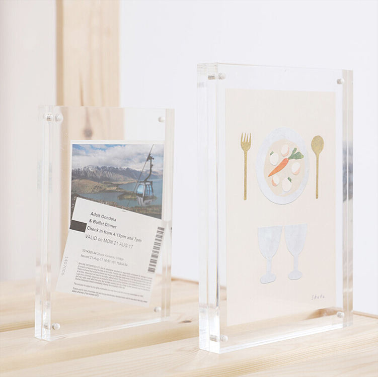 Wholesale Custom Transparent Square 4x6 6x8 5x7 Inches Acrylic Block Picture Frame