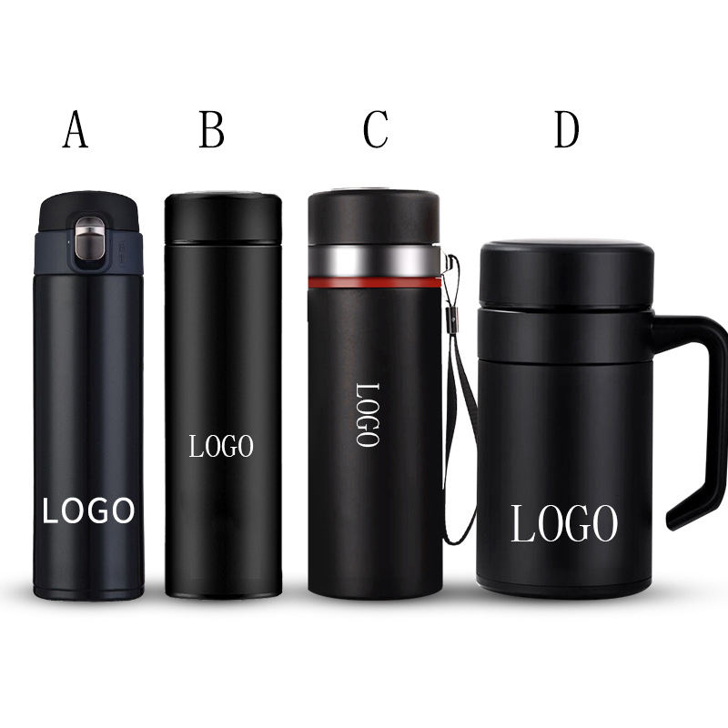 Black Matte Stainless Steel Vacuum Cups Custom LOGO Insulation Thermos