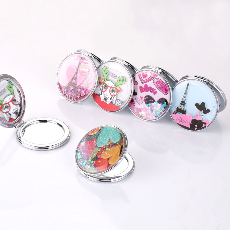 2020 Newest High Quality Portable Compact Blank Sublimation Metal Cosmetic Custom Makeup Mirror