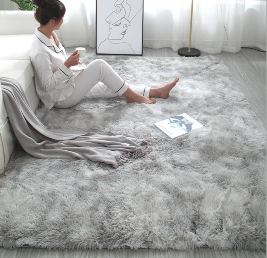 European Modern Soft Rectangle carpet fashion bedroom carpet bay window bedside mat washable rugs carpets living room