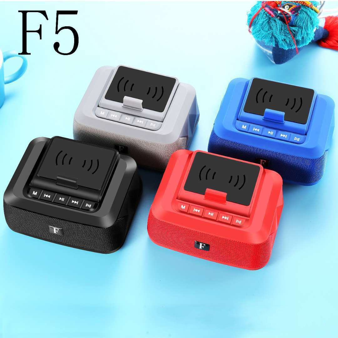Wireless 5W Charger bluetooth Speaker 1500 mAh Power Bank Micro USB Fast Charging Phone Holder For iPhone 11 12