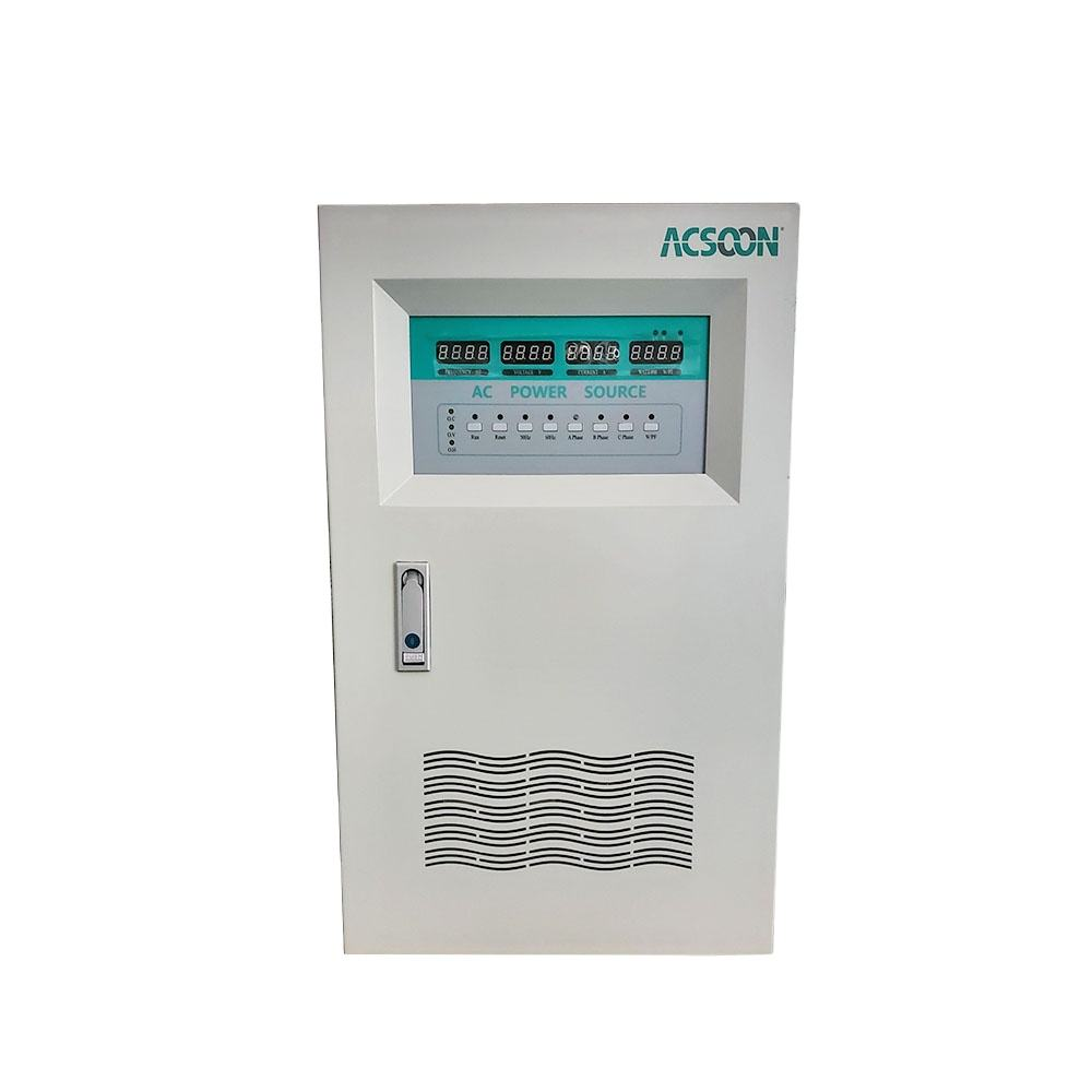 AF50 20kva Efisiensi Tinggi 3 Phase Ac Power Unit Sumber 50Hz Frekuensi Voltage Stabilizer