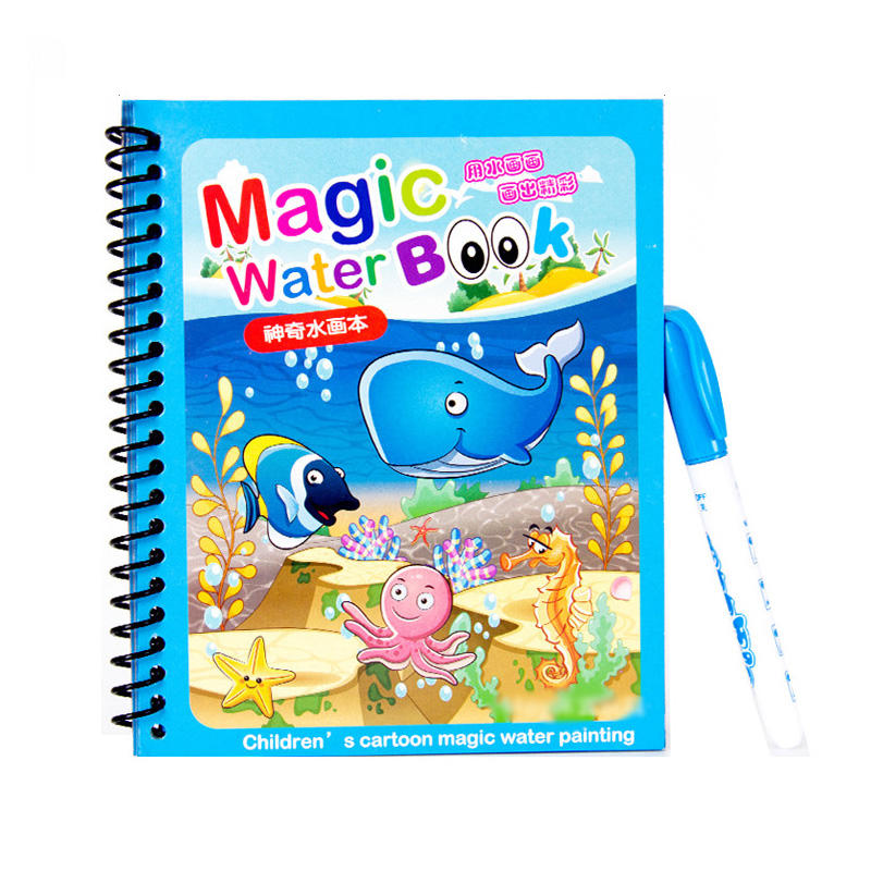 Kids Magic Color Aqua Doodle Paint Water Drawing Book