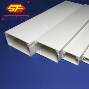 2020 Hot Item Electrical Wall Mounted Cable Wire Electrical Plastic PVC Trunking