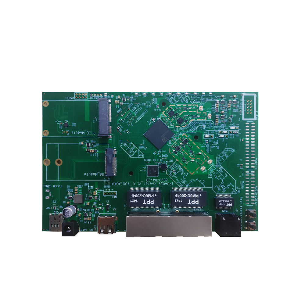 Multi Ports Gigabit Routing board 3G 4G 5G Module Dual Band 2.4 5 GHz IPQ4029 Linux Openwrt Embedded board