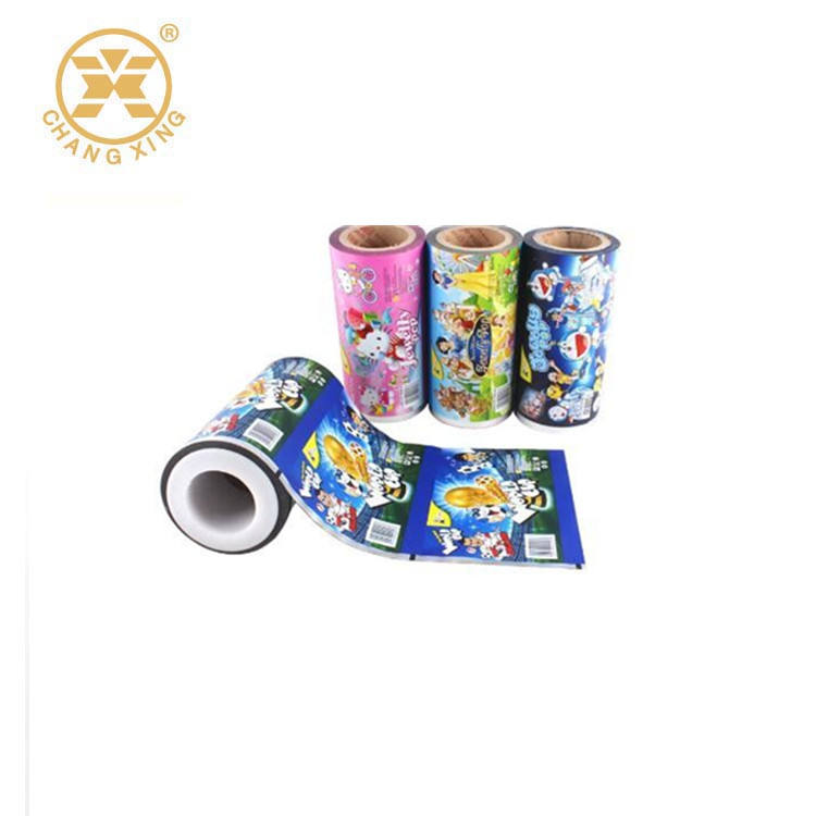 China factory plastic flexible packaging BOPP/CPP laminating film roll for children snack food bag