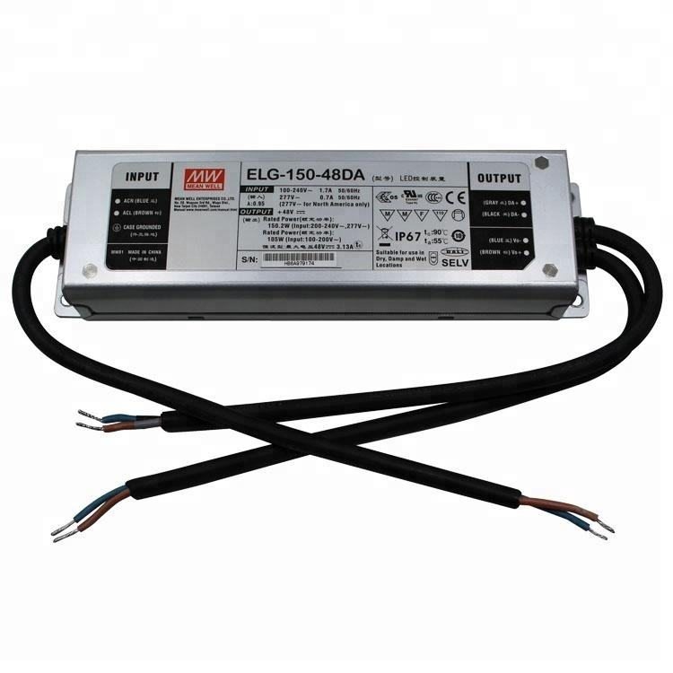 Meanwell ELG-150-48 150W 48V LED Driver IP65 Waterproof power supply For Fish Light