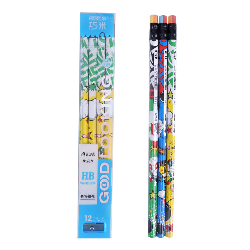 Cheap Wholesale Triangle Student Writing Wooden Pencil Set