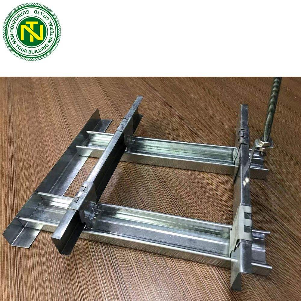 Gypsum ceiling frame galvanized light ceiling grid profile metal furring channel sizes with false ceiling designs