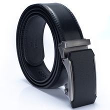 Automatic Sliding Buckle Designer Custom Men's Ratchet Leather Belt