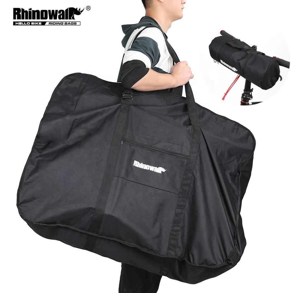 Rhinowalk 26-27 Inch Folding Bicycle Carry Bag Portable Cycling Bike Transport Case Travel Bicycle Accessories