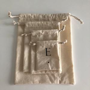 Organic Muslin Cotton/Canvas Drawstring Bag