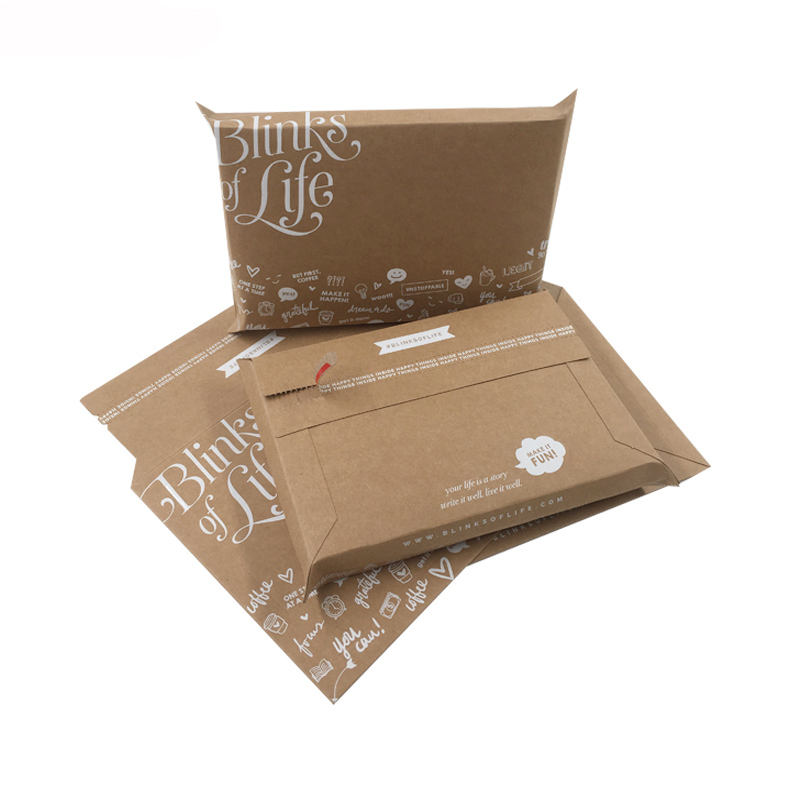 Rigid and Durable Paper Custom Cardboard Envelopes / Book Mailers With Self Seal Strip