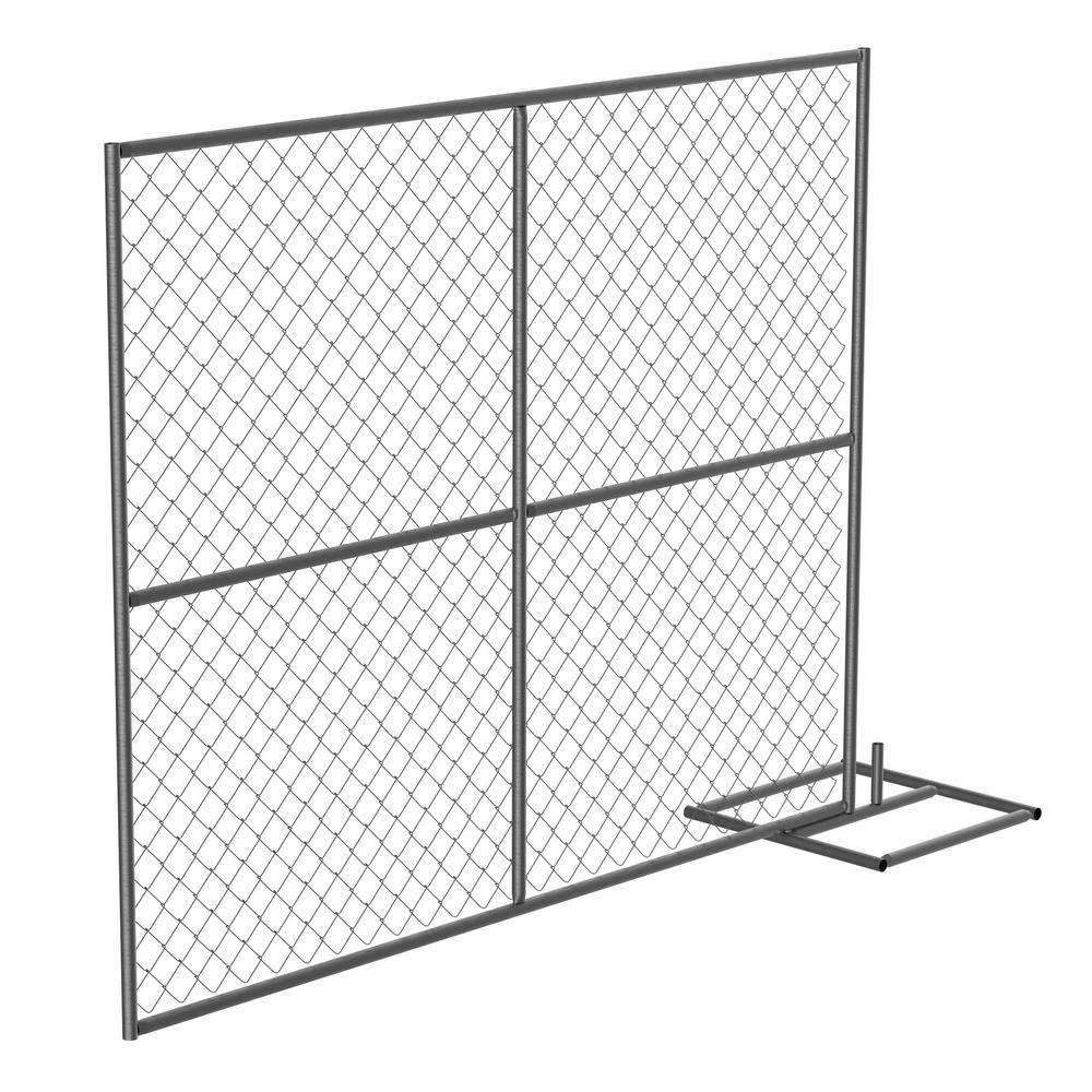 American Galvanized Used Temporary 6' x 12' chain link fence panels