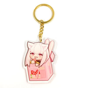 Custom Factory Clear Printed Anime Acrylic Charms Keychain Maker in China