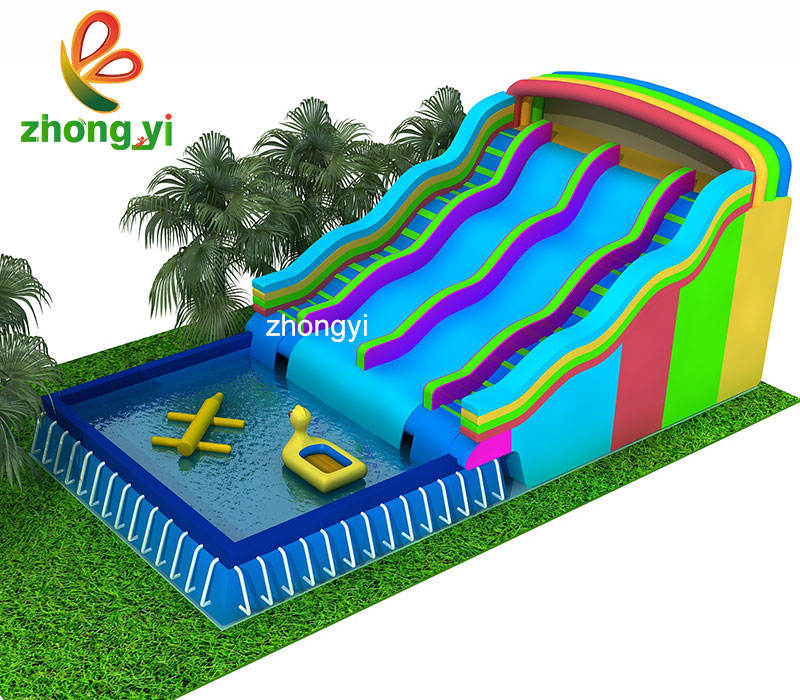 Commercial Used Inflatable Intex Swimming Pool Carton Water Park